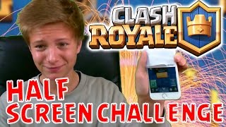 HALF SCREEN CHALLENGE ! Lets Play Clash Royale - Max Apps