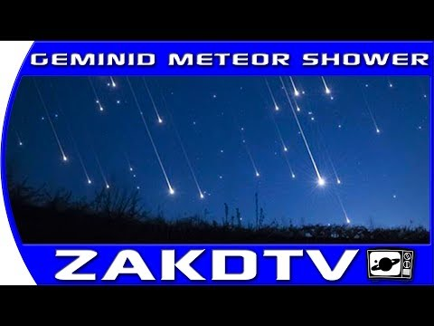 GEMINID METEOR SHOWER 2017, Shooting stars and the asteroid 3200 Phatheon in December