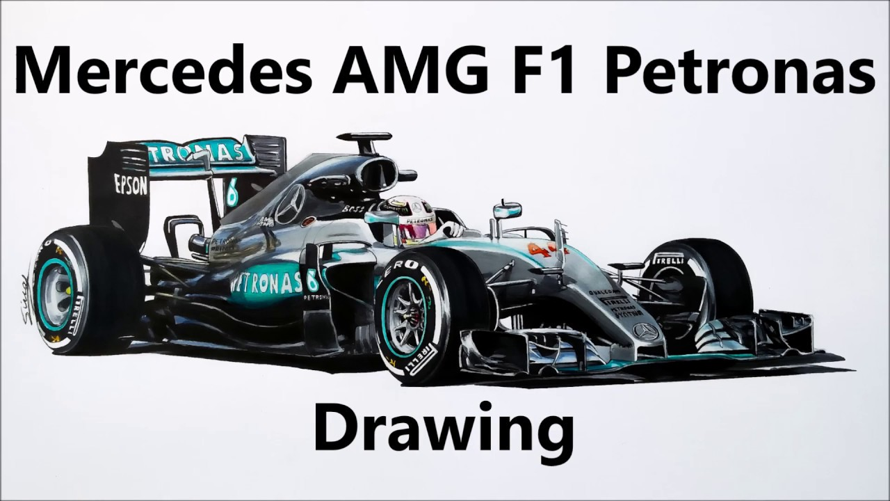 Mercedes benz 2016 f1 drawing youtube for Mercedes benz f1
