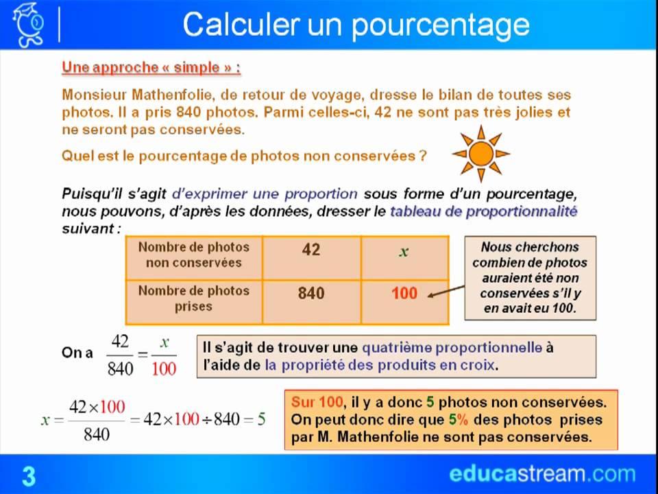 les pourcentages cours maths 4ème - YouTube