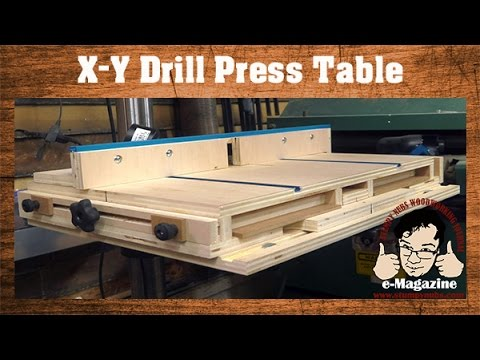 AWESOME Homemade Drill Press Table With An X Y Sliding Top And More!    YouTube