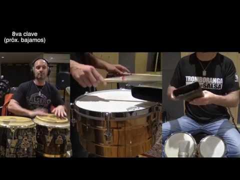 Percusion en salsa Bongo Conga Timbal Ensamble rutina 1 Joaquin Arteaga