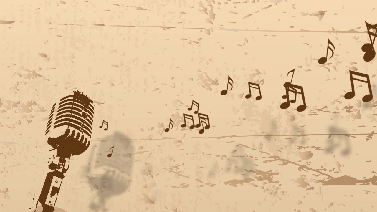 Music Notes Floating From Microphone Free Motion Graphics Youtube