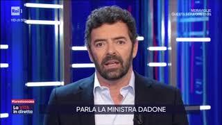 Fabiana dadone ospite a la vita in diretta rai 1 il 22-04-2020