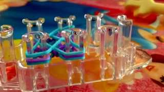 How to make a criss cross quadfish rainbow loom bracelet on the the monster tail