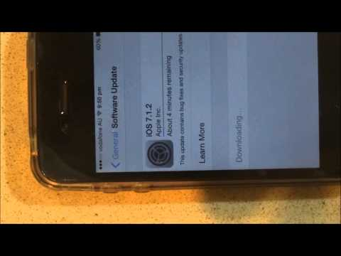 How To Update IOS Software 7.1.2 In IPhone 4s - Tutorial