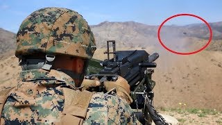 US Marines Firing The Powerful M2 Machine Gun &  MK 19 Grenade Launcher