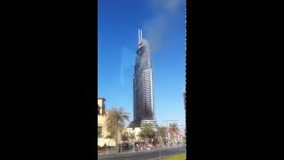 Fire At The Address Hotel Downtown #Dubai 2016 New Year Event