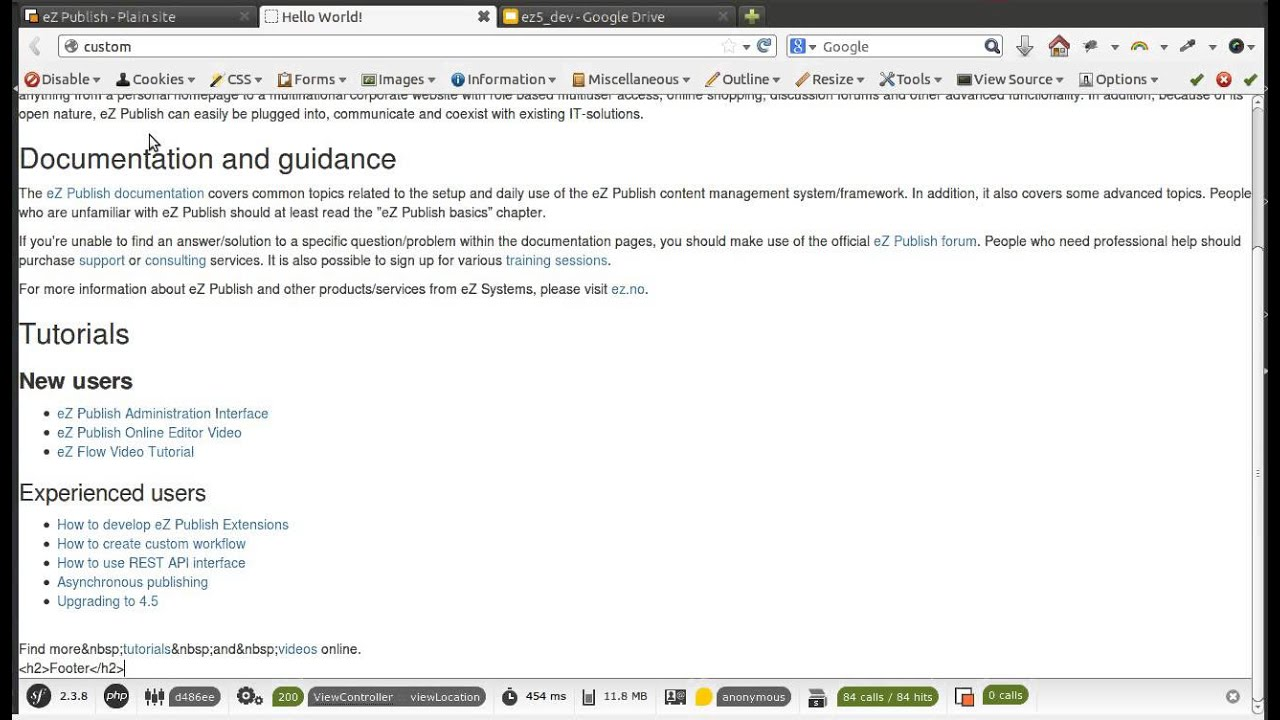 Ez publish video tutorial: ez publish online editor youtube.