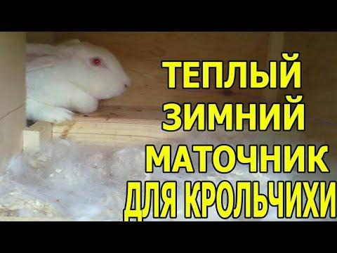 Теплый маточник для крольчихи своими руками