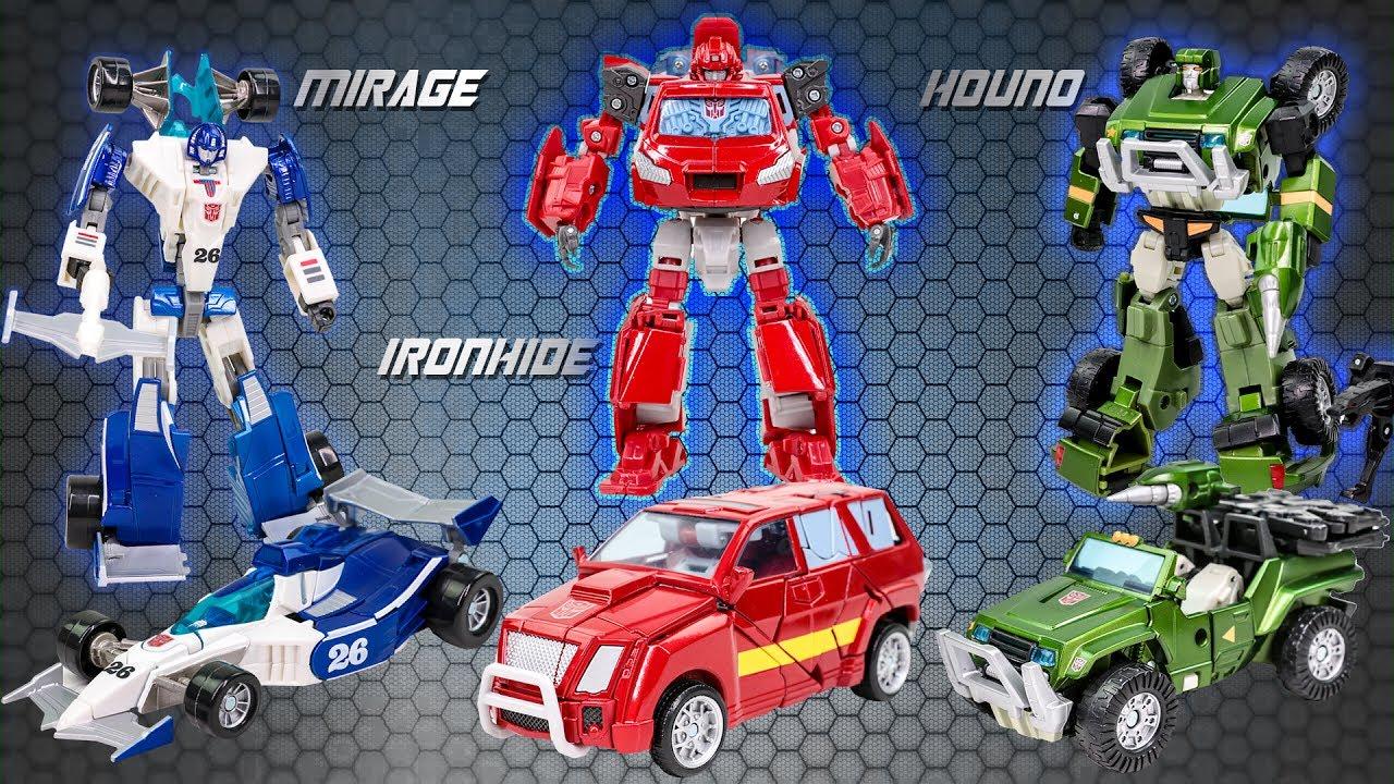TRANSFORMERS Specialist Autobots Mirage /& Ironhide /& Houno Figure