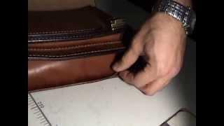 Мастер-класс пошив портфеля из чепрака,толстая кожа.