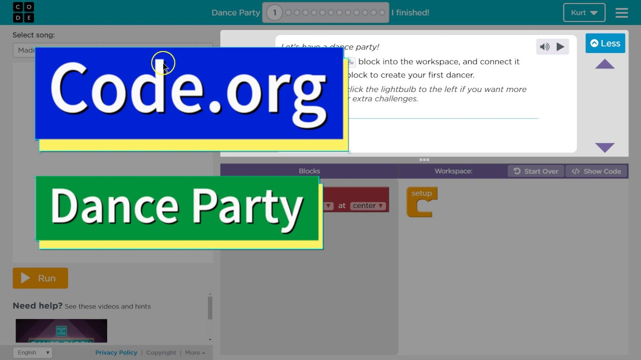 code.org dance party answers