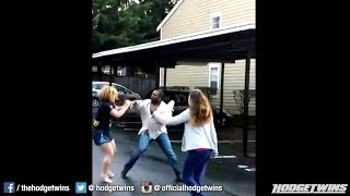 Man Punches Woman During Fight @hodgetwins
