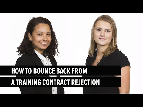 How to Bounce Back from a Training Contract Rejection