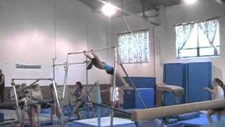 Kasey Gymanstics HARD Fall In Practice 2005 Killingly, CT