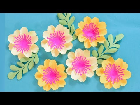 Paper Flower Tutorial with Poppy Center: Mary Jane Flower Template