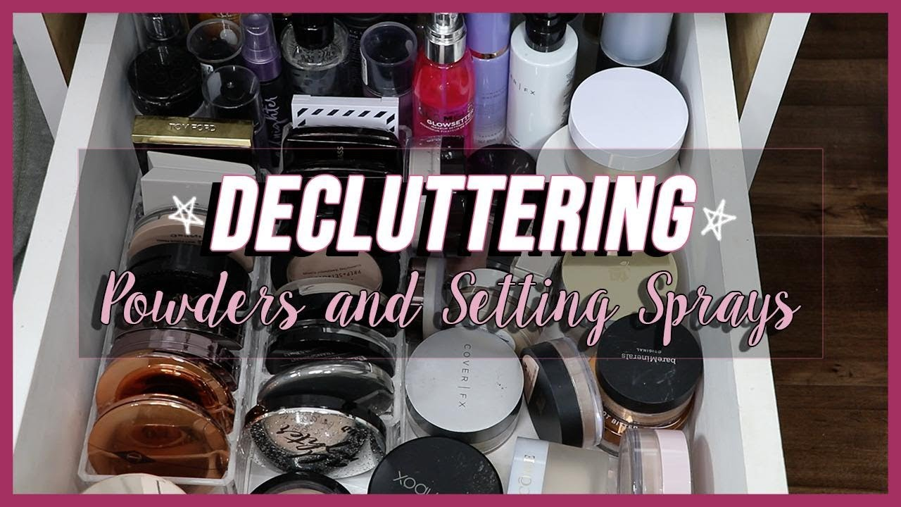 GOING THROUGH MY POWDERS + SETTING SPRAYS | What am I keeping?!