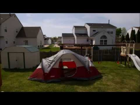 & Coleman Red Canyon Tent Setup Timelapse - YouTube