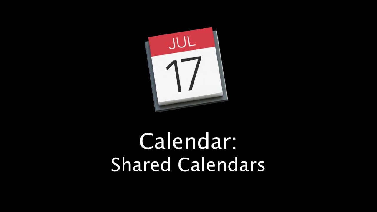 Mac Tutorial: How to use shared calendars with the Mac Calendar App and  iCloud