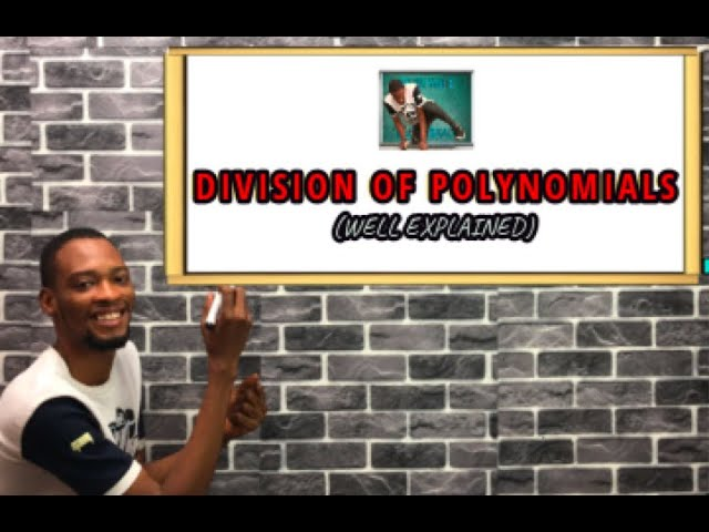Division Of Polynomials (Long Division Questions)