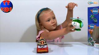 ✔ RoboCar Poli и Девочка Ярослава. Распаковка Игрушки Робокар Поли. Видео для детей. Серия 24 ✔
