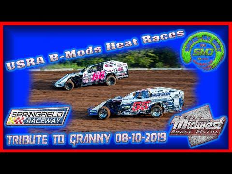 SO3-E388 USRA B-Mods Heat Races - Tribute to Granny Springfield Raceway 08-10-2019 #DirtTrackRacing