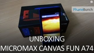 Micromax Canvas Fun A74 Unboxing