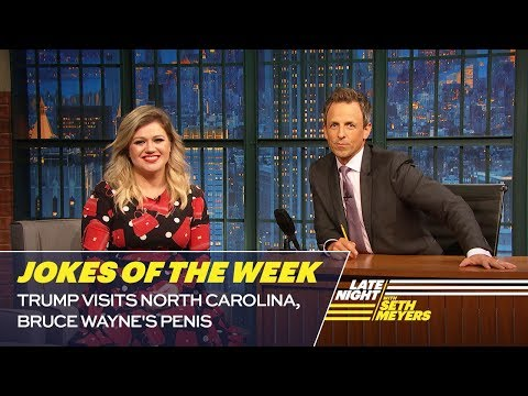Seth's Favorite Jokes of the Week: Trump Visits North Carolina, Bruce Wayne's Penis