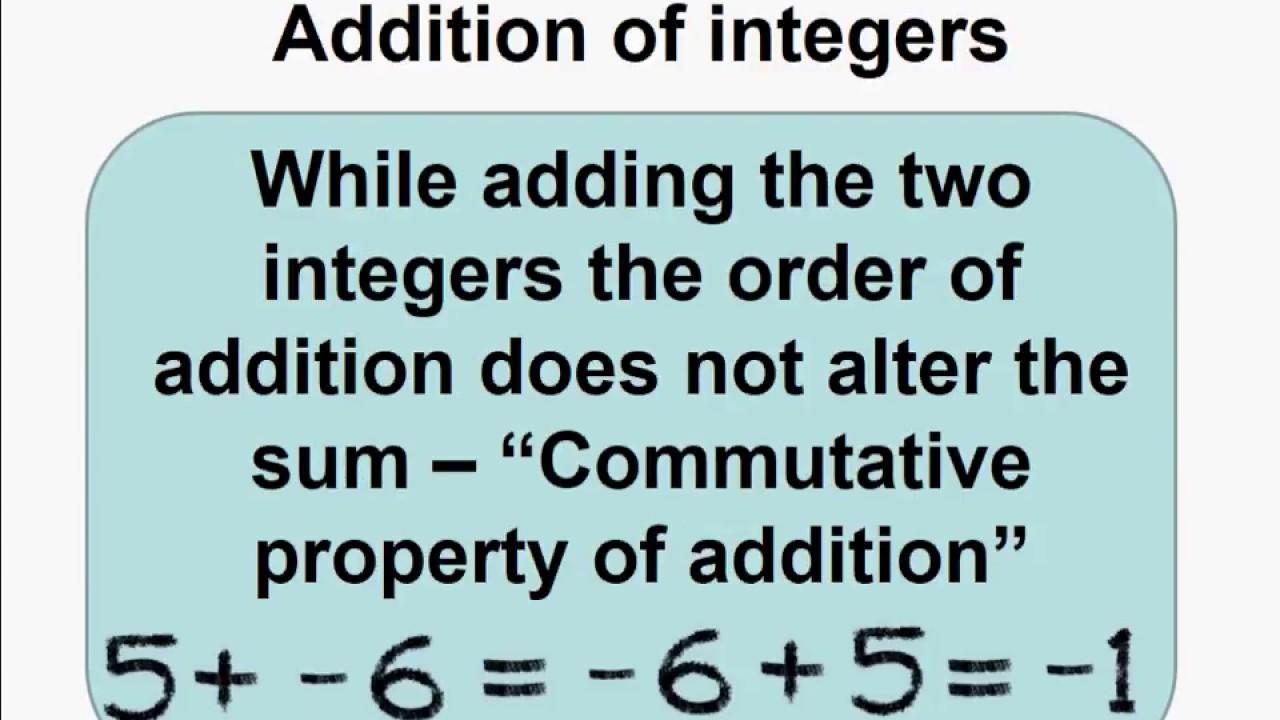 Math antics adding integers