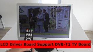 LVDS LCD Driver Board Support DVB-T2 TV(Prestavba PC monitora na TV)