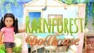 How to Make an American Girl Dollhouse: Rainforest House - Doll Crafts