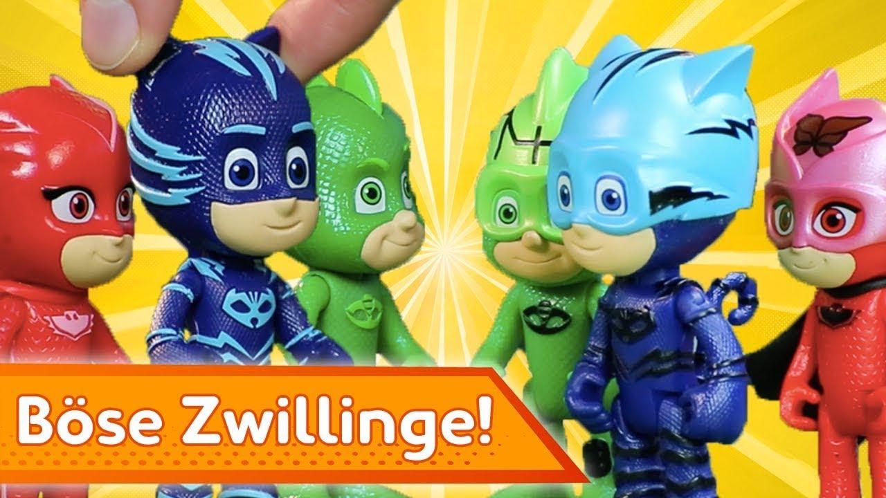 Böse Zwillinge! ⚡ PJ Masks Deutsch ⚡ Spielzeug für Kinder   Pyjamahelden
