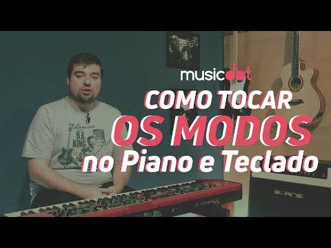 Como tocar os Modos no PianoTeclado Teclado para iniciantes