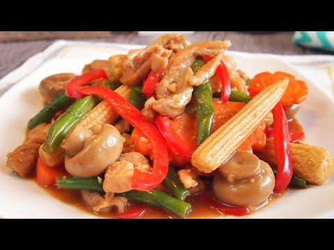 SUPER EASY Chinese Chicken Stir Fry w/ Vegetables Recipe 滑鸡炒蔬菜