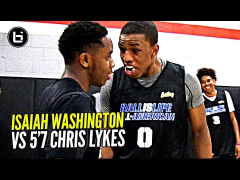 Isaiah Washington & 5'7 Chris Lykes Try To OUT JELLY Each Other!! Exciting PG Duel at BILAAG!!!