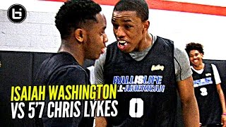 Isaiah Washington & 5'7 Chris Lykes Try To OUT JELLY Each Other!! Exciting PG Duel at BILAAG!!! thumbnail