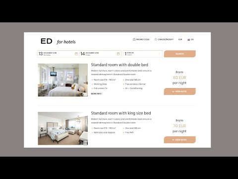 Easy & Direct BOOKING Engine For Hotel Website