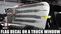 How to install: American Flag Truck Back Window Decal Sticker - Patriot99.com