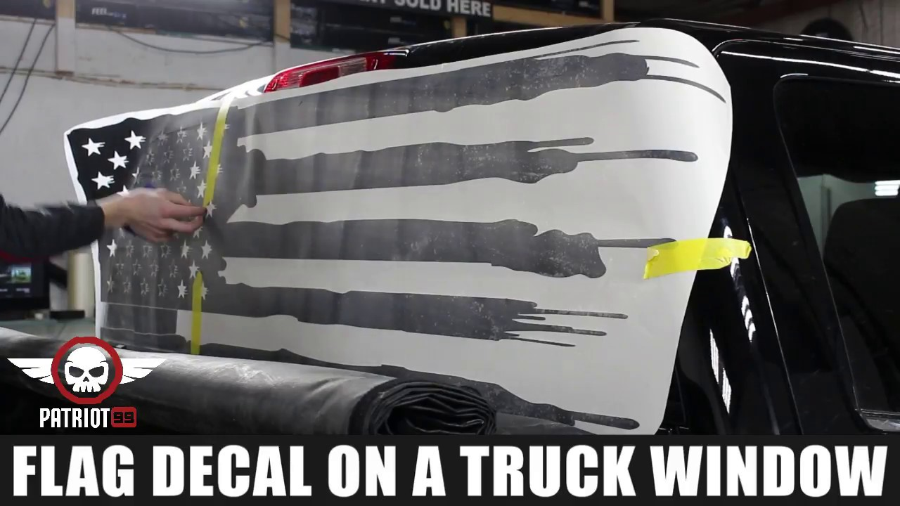 How to install american flag truck back window decal sticker patriot99 com