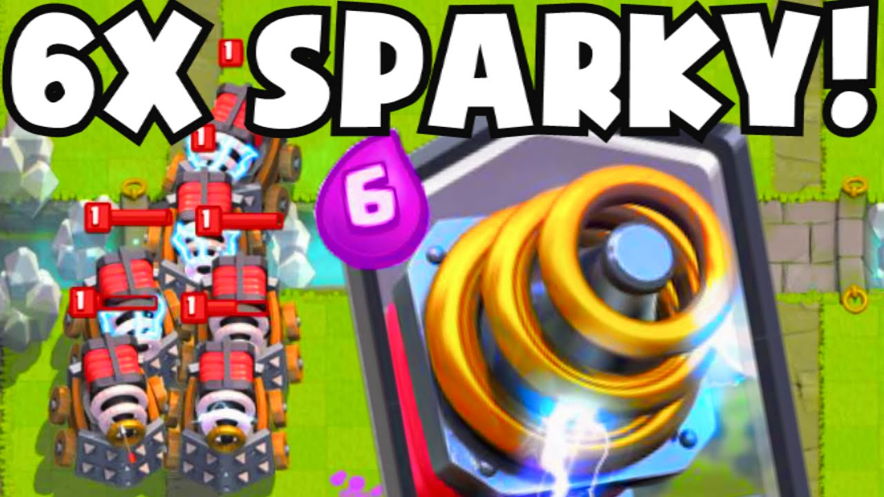 clash royale 6 sparky attack fully maxed level legendary