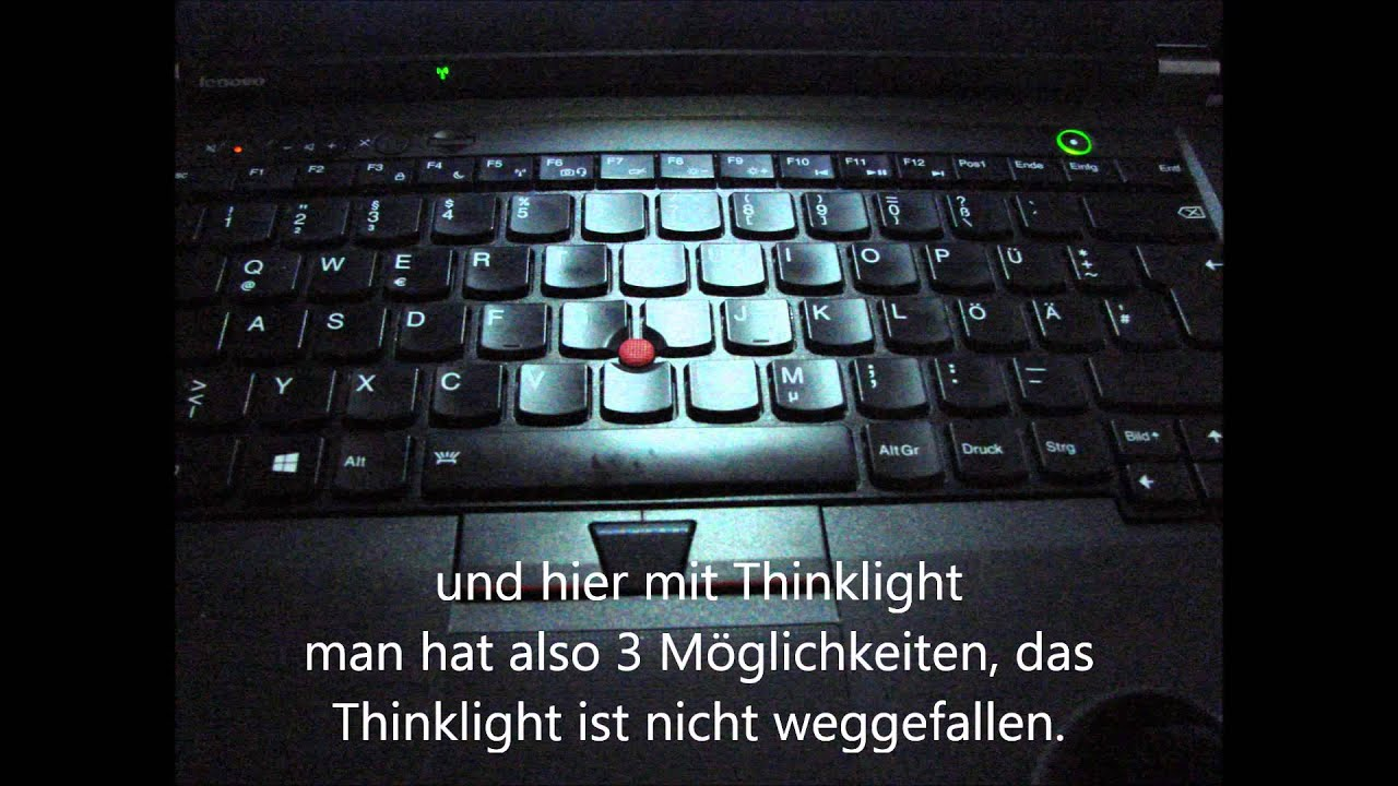 Lenovo ThinkPad T530i / T530 Tastaturbeleuchtung