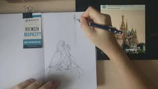 Подробный часовой бесплатный урок рисования спиртовыми маркерами