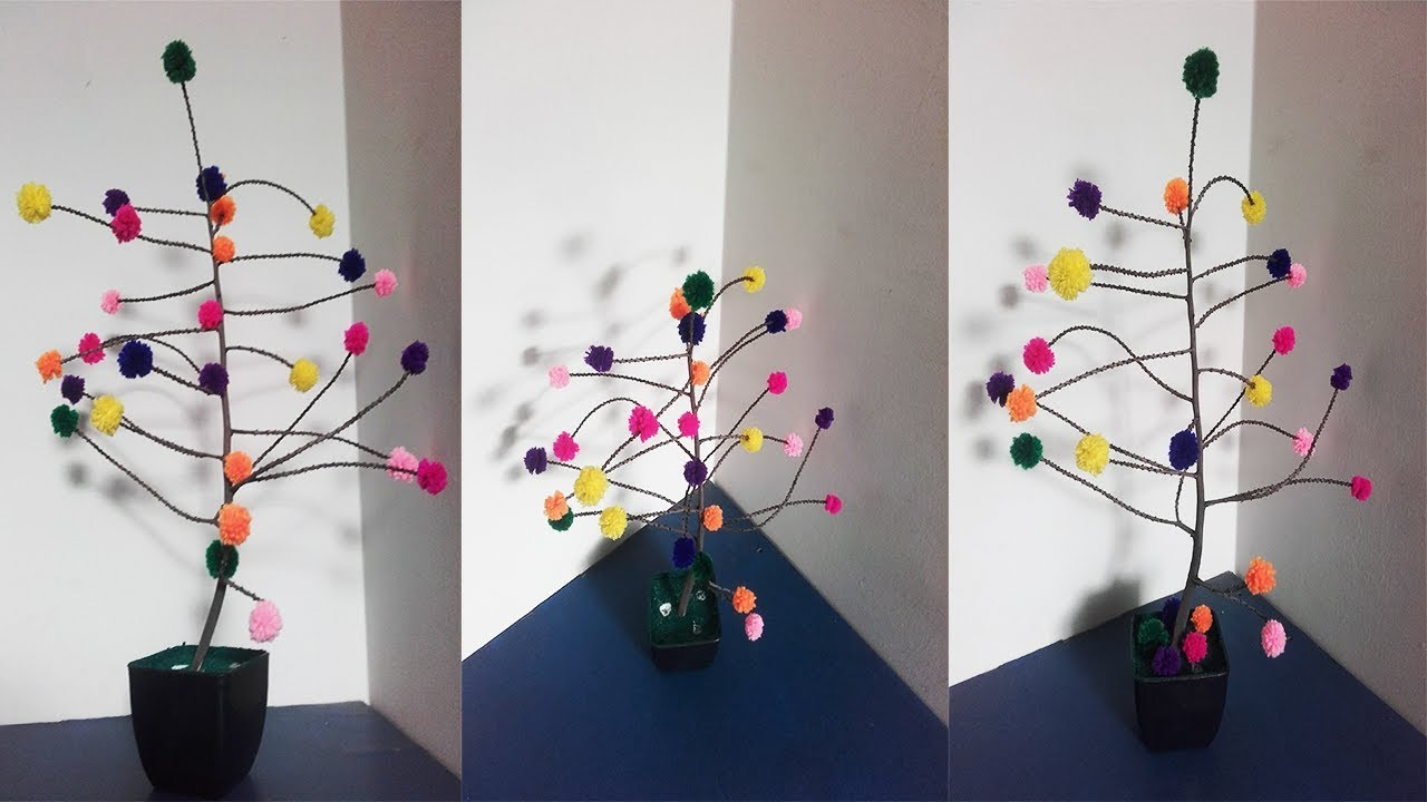 Diy Room Decor Ideas Out Of Woolen Pom Easy Home Decorating