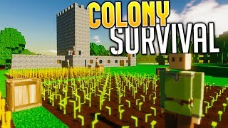 Colony Survival -  The Great Tower - A Giant Colony - Colony Survival Gameplay Part 2