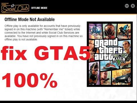 FIX 2019 - GTA 5 social club offline mode not available [CZ] 100% WORKS !  Jak opravit