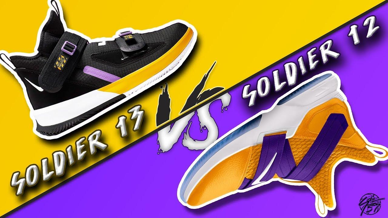 wholesale dealer 31b8d f706d Nike Lebron Soldier 13 vs Lebron Soldier 12!