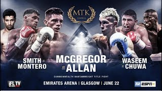 LIVE PROFESSIONAL BOXING! - MTK GLOBAL PRESENTS ... 'FIGHT NIGHT GLASGOW' -  COMMONWEALTH TITLE