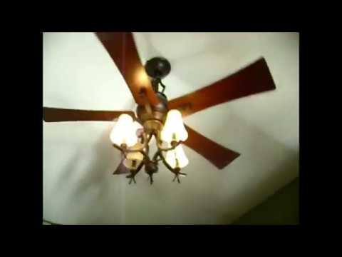 Hampton Bay ceiling fans on a remote - YouTube