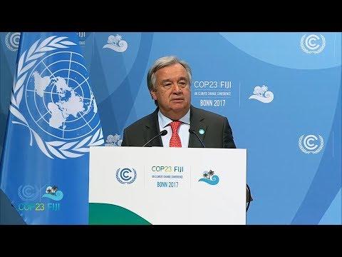 UN Secretary-General António Guterres Urges More Ambitious Climate Action